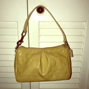 Coach Tan Patent mini bag/wristlet